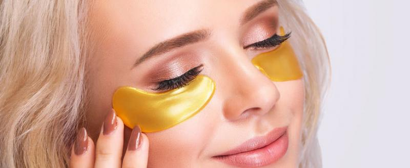 Maska za oči GOLD s kolagenom, ki zmanjša