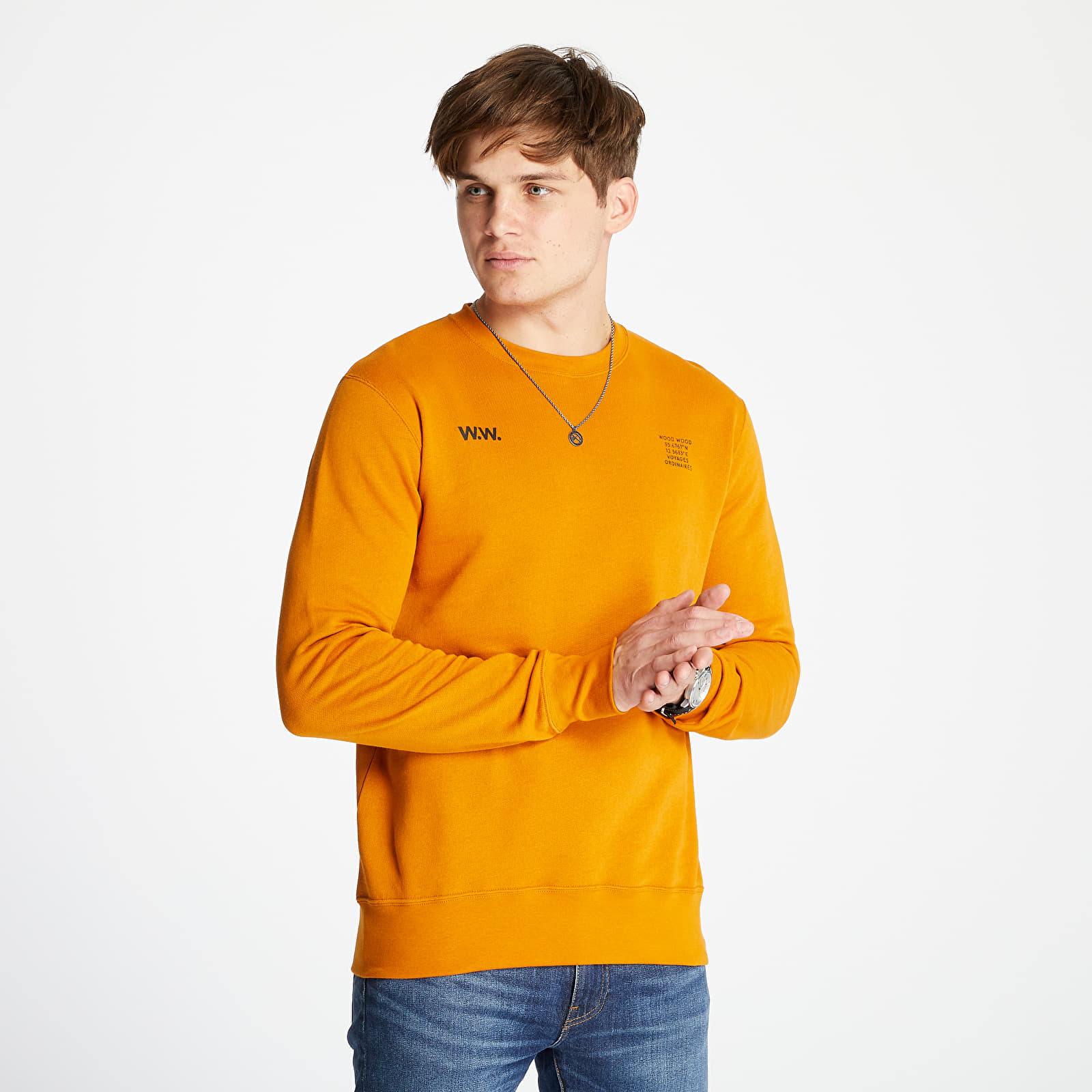 WOOD WOOD Hugh Sweatshirt Orange
