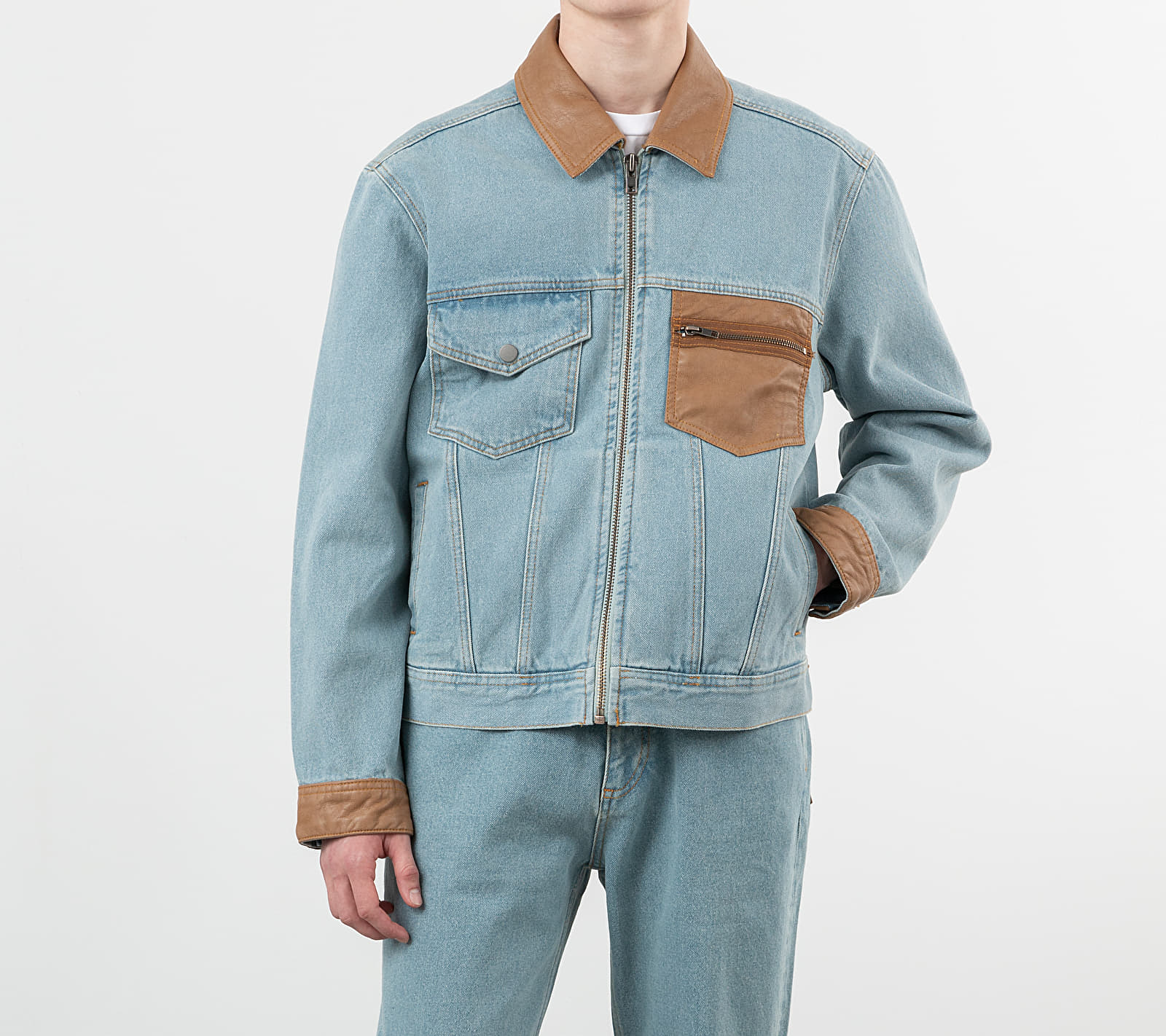 PACCBET Light Wash Denim Jacket Light...