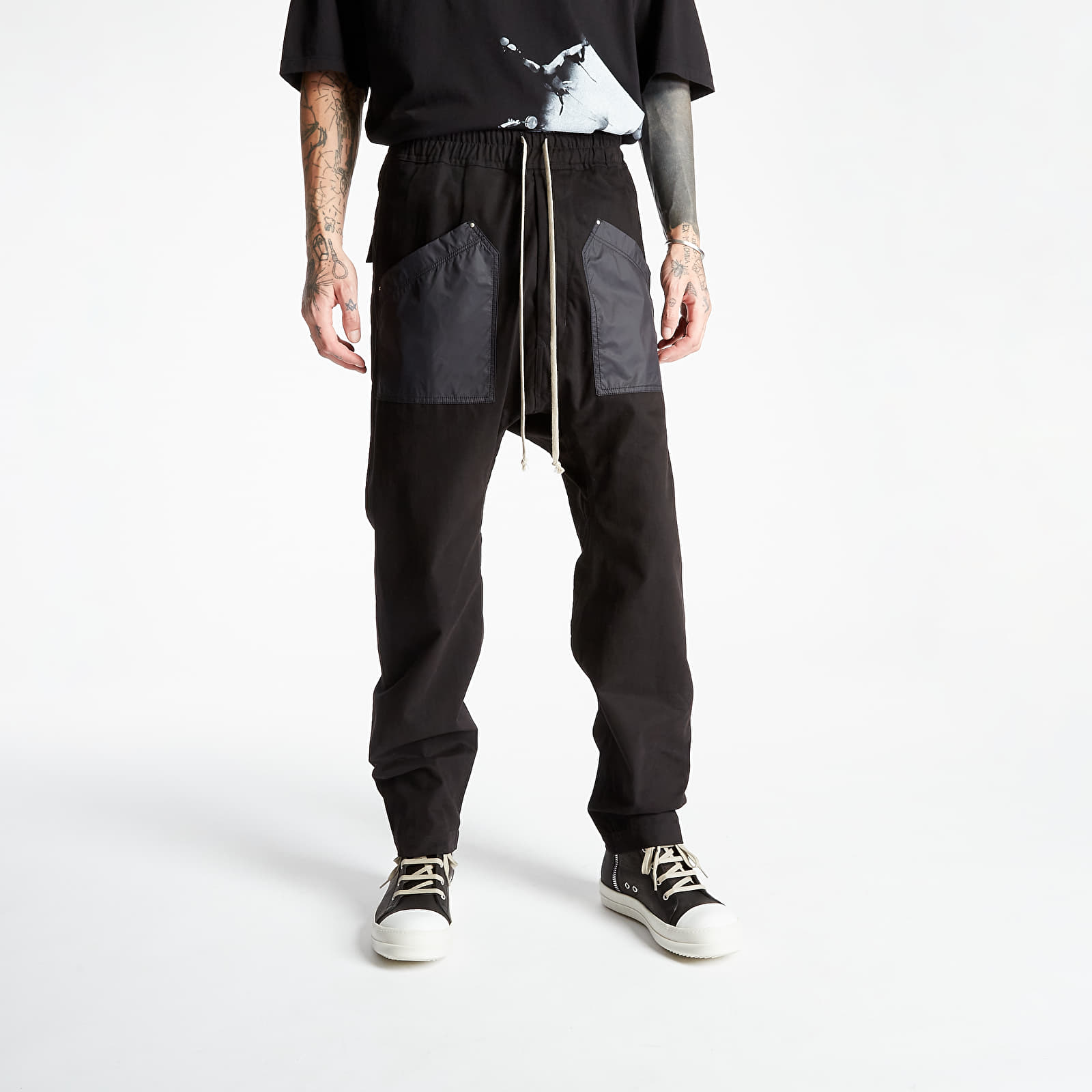 Rick Owens Cargo Drawstring Long Pants...