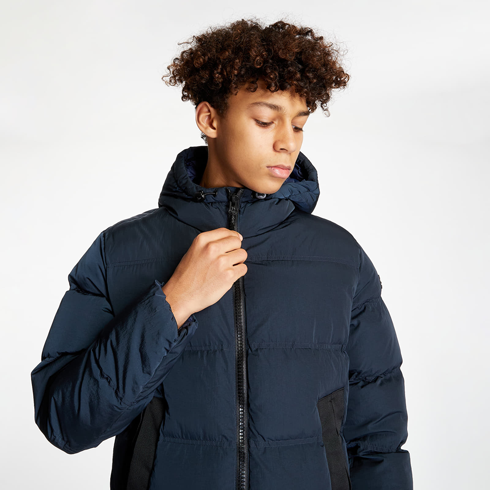 Champion Hooded Puffer Jacket Navy